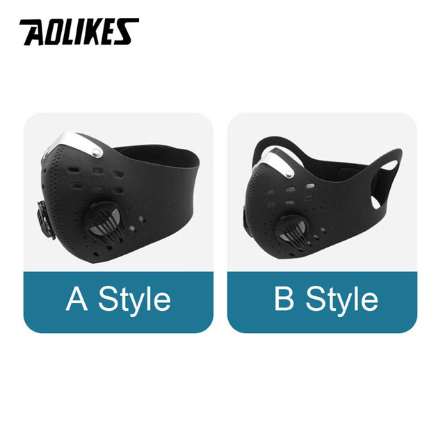 AOLIKES Sport Face Mask With Activated Carbon Filter PM 2.5 Anti Pollution MTB Bike Training Mask Anti Smog Cycling Mask 5