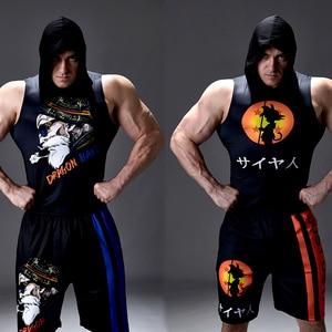 2020 Newest Gyms Workout Hoodies Sleeveless Shirt Dragon Ball Tank Top Men Bodybuilding Fitness Sportswear Vests Muscle Singlets(China)