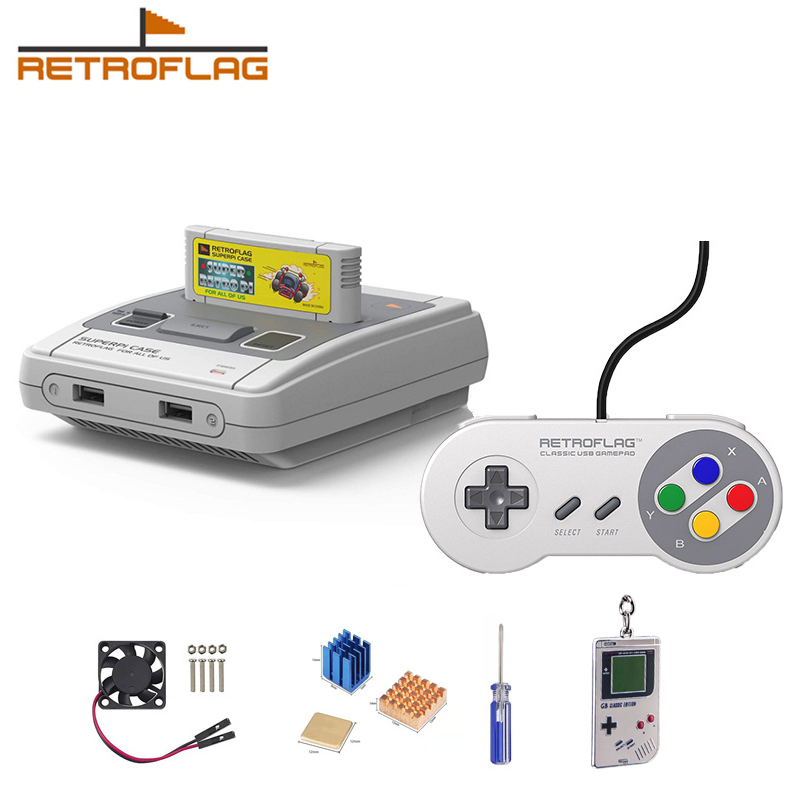 Retroflag SUPERPi Case SUPERPi Case Deluxe Edition-J with Classic USB  Controller-J for Raspberry Pi 3B Plus /3B+ / 3B / 2B