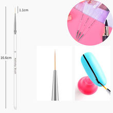 Aacar 3 Stks/set 3D Manicure Tekening Tool Transparante Pen Nail Art Lijnen Schilderen Borstel 7/9/11 Mm uv Gel Polish Tips Bloem Strepen(China)