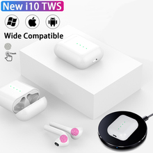 original i10 tws wireless earphones Bluetooth Earbuds gamer Headset for IPhone Xiaomi Mobile Android Phones PK i12 i30 i80