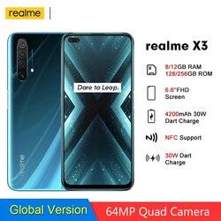 Realme X3 RMX2086 суперзум глобальная Версия 8 ГБ 128 Гб мобильный телефон 64-мегапиксельная четырехъядерная камера 4200 мАч 30 Вт Дротика Зарядка 4G моби...