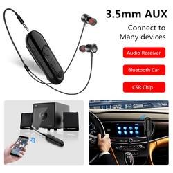 Bluetooth 5.0 récepteur + écouteur 3.5mm Jack 20H adaptateur sans fil Bluetooth 3.5 Aux Audio transmetteur de musique pour casque haut-parleur