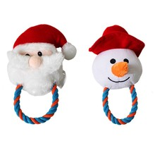 лучшая цена New Pet Dogs Christmas Gift Santa Shaped Chew Toys Dogs Molar Toys for Appeasing and Solving Boredom