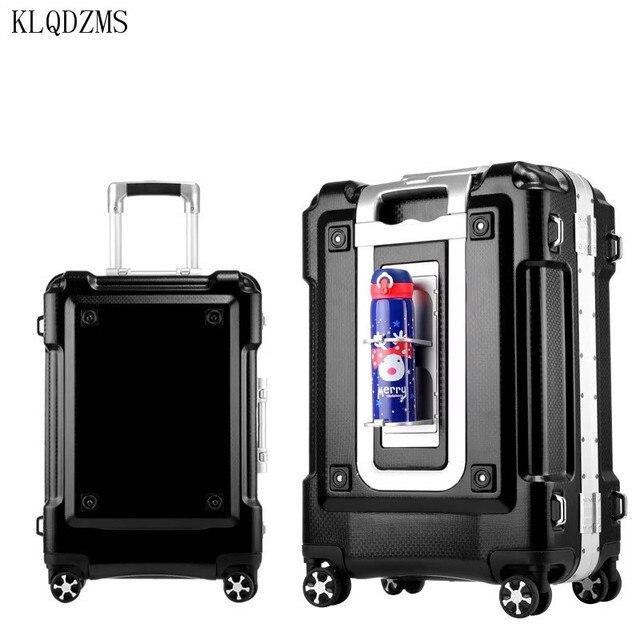 "KLQDZMS KLQDZMS 20""24""29inch aluminum frame rolling luggage spinner on wheel men women carry on travel suitcase trolley bag 3"