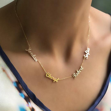 Personalized Multiple Name Necklace Women Men Collares Mujer Family Necklaces Pendents Custom Jewelry Gold Chain Choker Kolye personalized multiple name necklace women men collares mujer family necklaces pendents custom jewelry gold chain choker kolye