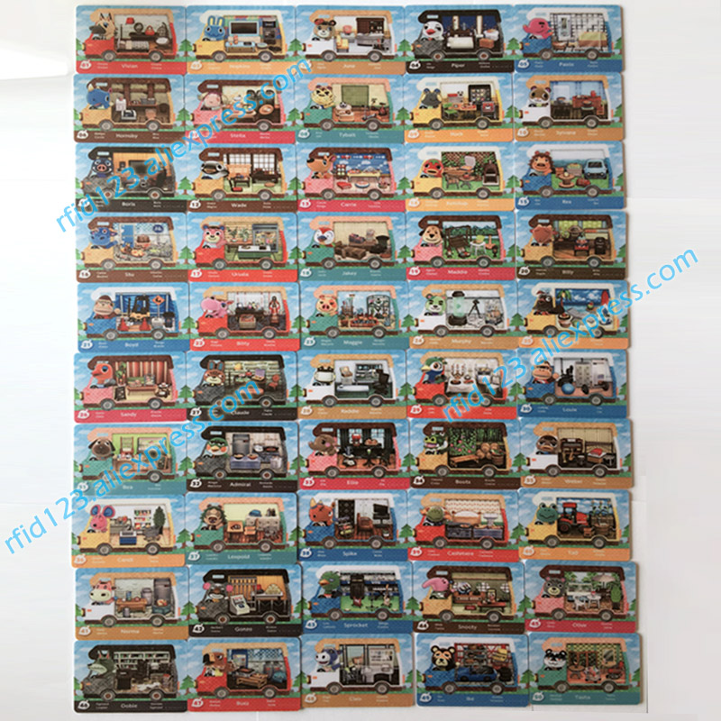 NFC Amiibo Card Animal Crossing New Leaf Welcome Amiibo House Card(26 To 50)