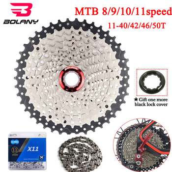 8/9/10/11speed MTB Cassette 11-40/42/46/50T Wide Ratio Flywheel Mountain Bike Bicycle Accessorie Fit Shimano/SRAM image