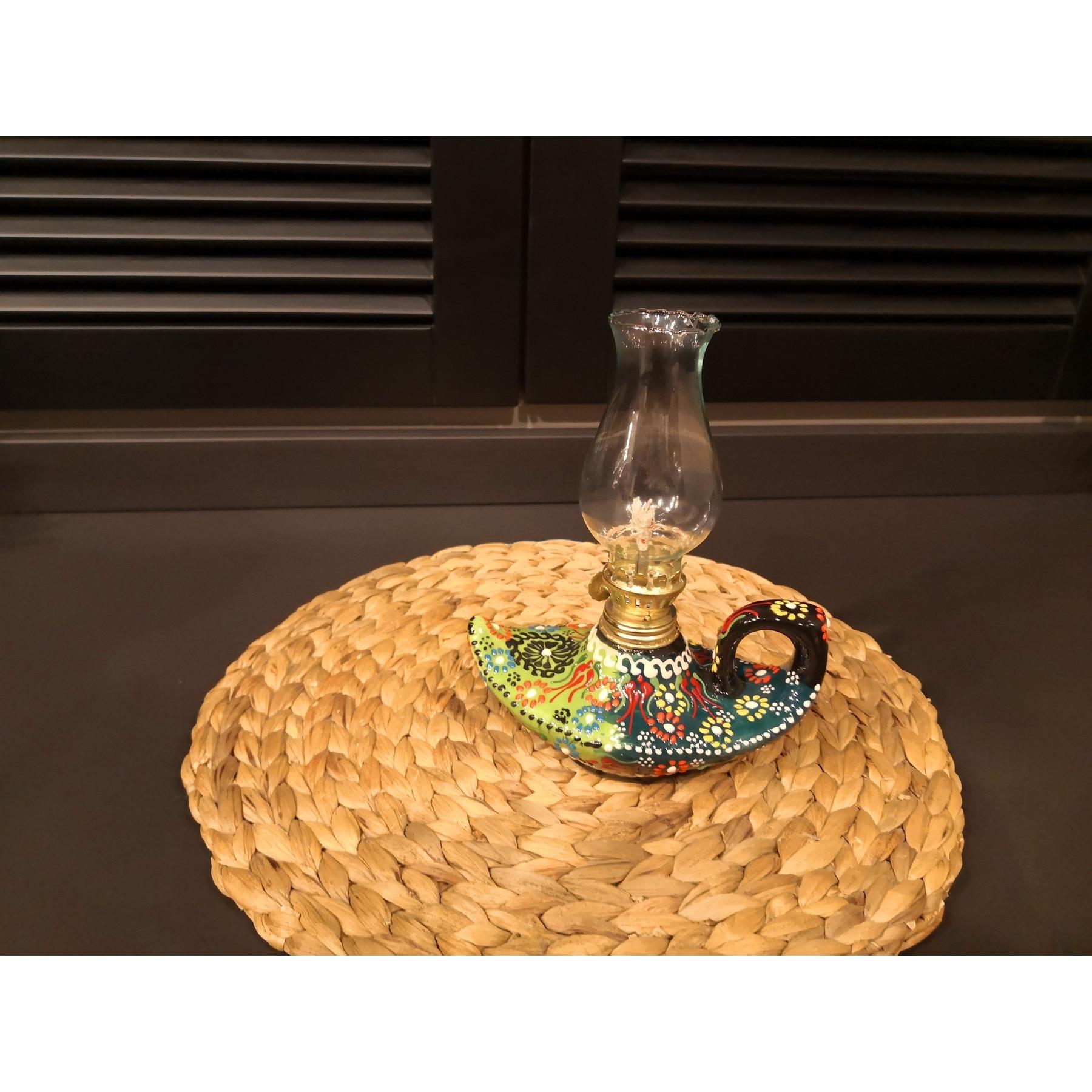 Iznik Tile Ceramic Kerosene Lamp Aladdin Magic Lamp Table Top Lamp Decor Lamp Turkish Handmade Turkish Lamp Table Top Decoratio Bottles Jars Boxes Aliexpress