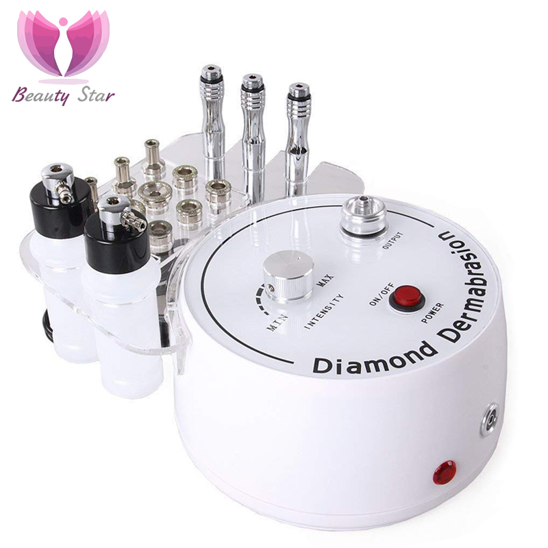 Beauty Star Diamond Microdermabrasion Machine Big Vacuum Suction Spray Therapy Dermabrasion Facial Peeling Exfoliate Skin Care