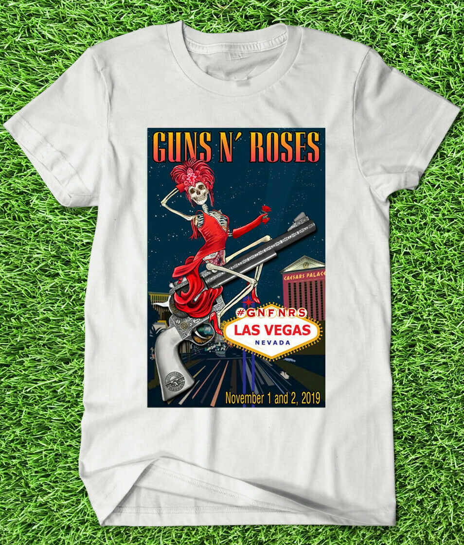 Guns N Roses November 1 2 2019 <font><b>Lasvegas</b></font> Nevada New T Shirt image