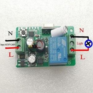 Image 5 - 433 315 Remote Control Switch AC 110V 220V 240V 85V 260V Light Lamp LED Bulb Wireless Switches Corridor Room Wall Panel Switch