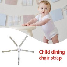 High Chair Harness Adjustable Child Chair Strap With Buckle Safety Belt 5 Point For Baby High Chair Pram And Stroller