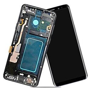 Image 5 - AMOLED SAMSUNG Galaxy S9 Artı LCD dokunmatik ekranlı sayısallaştırıcı grup Çerçeve ile S9 + S9 LCD G960 G965 Yedek