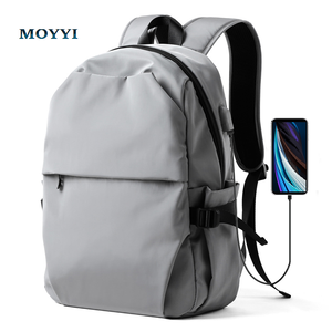 Image 1 - MOYYI Chống Trộm Nam Ba Lô Chống Nước Laptop Túi Sạc USB Gói Hành Lý Ba Lô Siêu Nhẹ Trường Túi