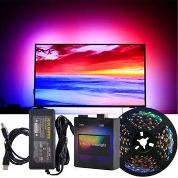 Spot DIY Ambilight TV PC Dream Screen USB LED Strip HDTV Computer Monitor Backlight Addressable WS2812B LED Strip Full Set Decor