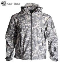 Jacket Multicam Army-Clothing Han Wild Military Camouflage Men Windbreakers Fleece Male
