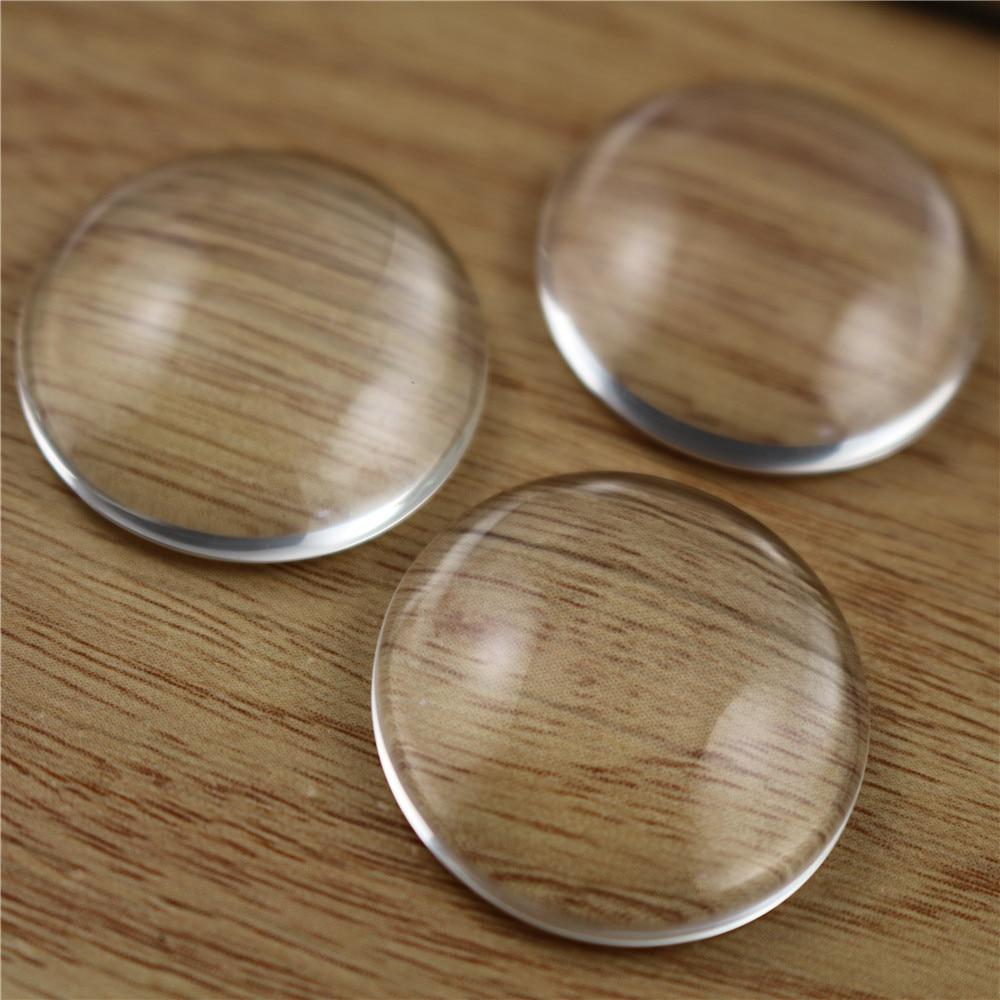 5pcs/lot 25MM Round Flat Back Clear Glass Cabochon, High Quality, Lose Money Promotion!!!(Z2-09)
