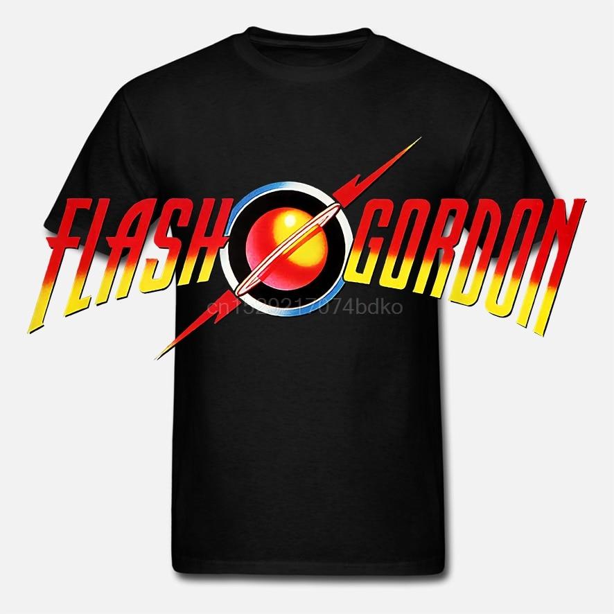 Officially Licensed Flash Gordon Flash Gordon Logo Men T Shirt S Xxl Sizes Hipster Men Tops Tees 2018 Summer Fashion New(China)