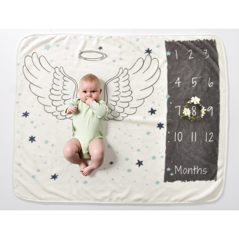 Infant Baby Milestone Blanket Photo Photography Prop Blankets Infant Rug Cloth Calendar Boy Girl Photo Accessories