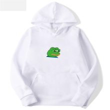 2019 New Sad Frog Print Casual HOODIE Hip Hop Street wear Sweatshirts Skateboard Men/Woman Pullover Hoodies Japanese Hoodies glenn berger new casual soild colors cotton hoodie hip hop street wear sweatshirts skateboard women pullover hoodies femme tops