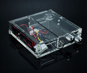 Image 4 - FREEZEMOD full transparent Acrylic PMMA tank single optical drive size computer water cooling tank with thermometer. GQSX D1