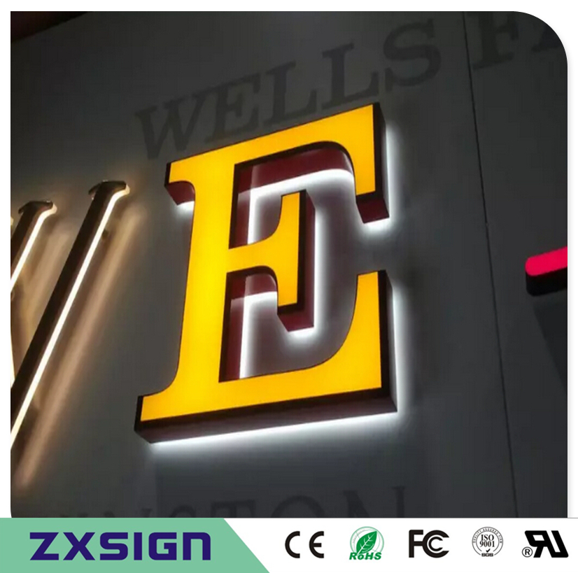 Outdoor Waterproof Double Sided Lighted Business Signs, Frontlit & Backlit LED Channel Letters For Store Company Logo Name