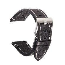 Pulseiras de relógio 18mm/19mm/20mm/21mm/22mm pulseira de relógio retro bezerro couro genuíno correias cinto liberação rápida pino pulseira