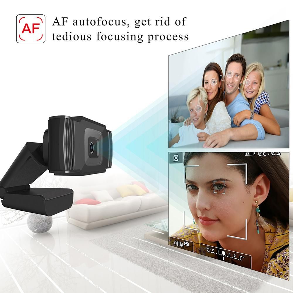 Купить usb веб камера 1080p hd 5 мп с автофокусом компьютерная камеры