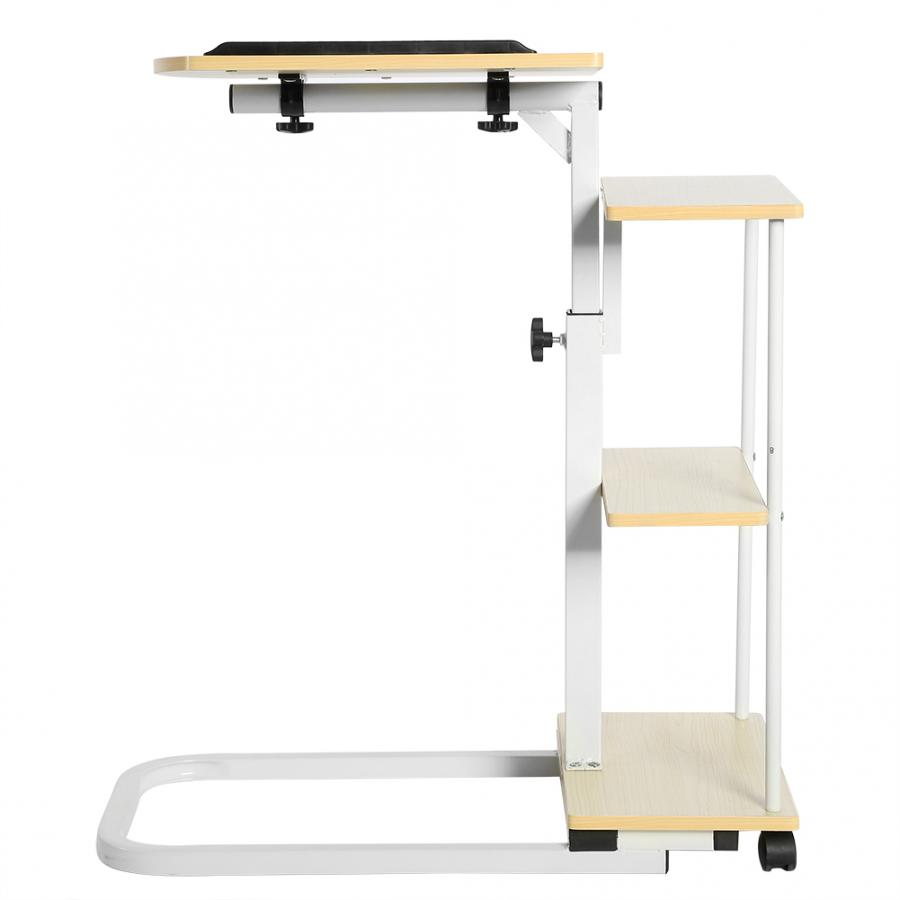Laptop Cart Desk-Table Standing Computer-Desk Wheels Can-Be-Lifted With Multi-Function