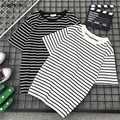T-shirt Sommer Männer Paare O-ansatz Batwing Kurzarm T-shirt Striped Einfache Herren Ins Harajuku Alle-spiel Streetwear Chic T-shirt BF