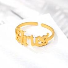Золотое кольцо из нержавеющей стали для женщин старинное английское