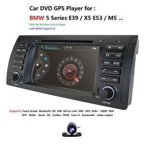 Image 2 - 2Din 7 DVD לרכב מולטימדיה נגן ראש יחידה עבור BMW E53 E39 X5 GPS Navi RDS SD USB היגוי גלגל שליטה מראה קישור Bluetooth