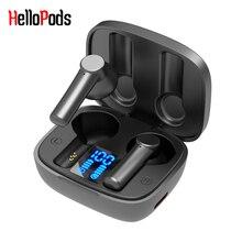 HelloPods LB 8 TWS Tai Nghe Nhét Tai Màn Hình LED HD Không Dây Bluetooth 5.0 Thể Thao Tai Nghe Hai Tai Mini Stereo Tai Nghe PK F9 XT91
