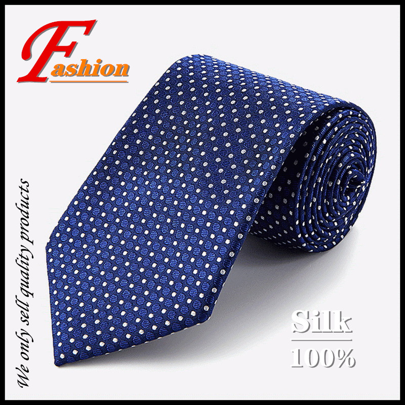 High-grade New Men's Noble Business Fashion All-match Comfortable Breathable Crease Anti-Pilling Proof 100% Silk Round Point Tie