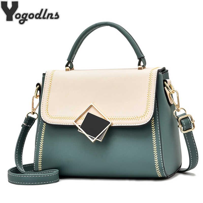 Wanita Dompet dan Tas Pesta Selempang Tas Selempang dengan Kunci Dekorasi Atas Pegangan Tas Jinjing Wanita Trendi Bahu Messenger tas