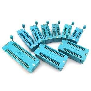 1pcs/lot 14 16 18 20 24 28 32 40 P Pin 2.54 MM Green DIP Universal ZIF IC Socket Test Solder Type IC lock seat zif socket