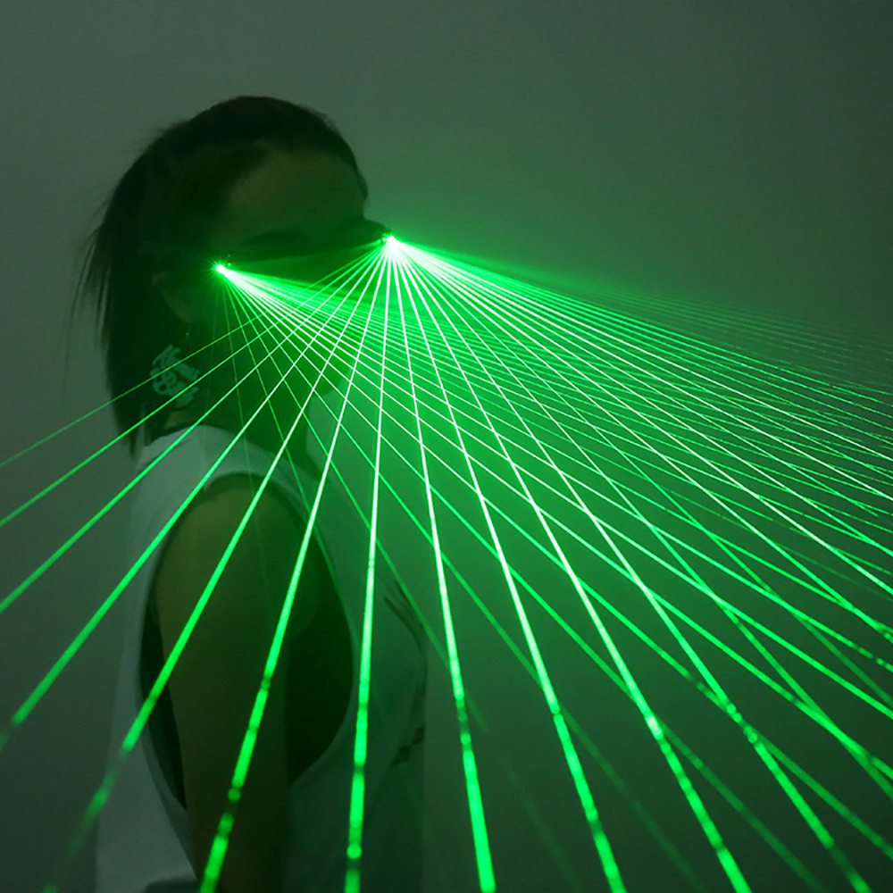 Red Green LED Laser Glasses Light Dancing Stage Show DJ Club Party Glasses Multi Beams For LED Luminous Costumes