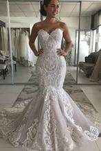 2020 새로운 인어 긴 웨딩 드레스 레이스 웨딩 드레스 Vestidos 드 Novia 100% 사진과 동일 사용자 정의 웨딩 드레스