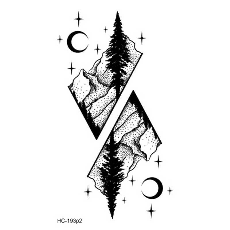 Tatuagem falsa ecológica, tatuagem falsa, planeta oceano, côco, árvore à prova d' água, tatuagens de halloween, longa duração, montanha, tatuagens temporárias