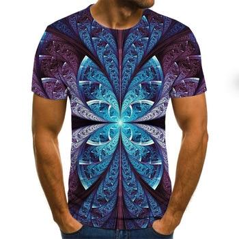 2020 New Summer 3D printed men's T-shirt casual   6