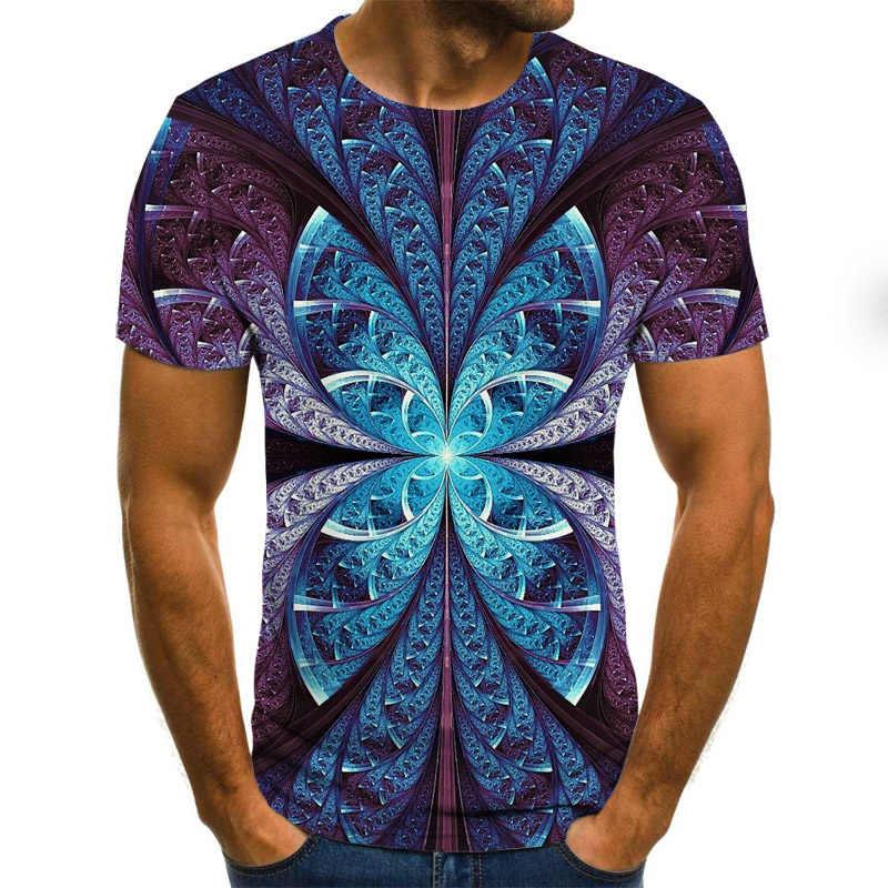 2020 新夏 3Dプリントメンズtシャツカジュアル半袖メンズtシャツファッションヒップホップトップ