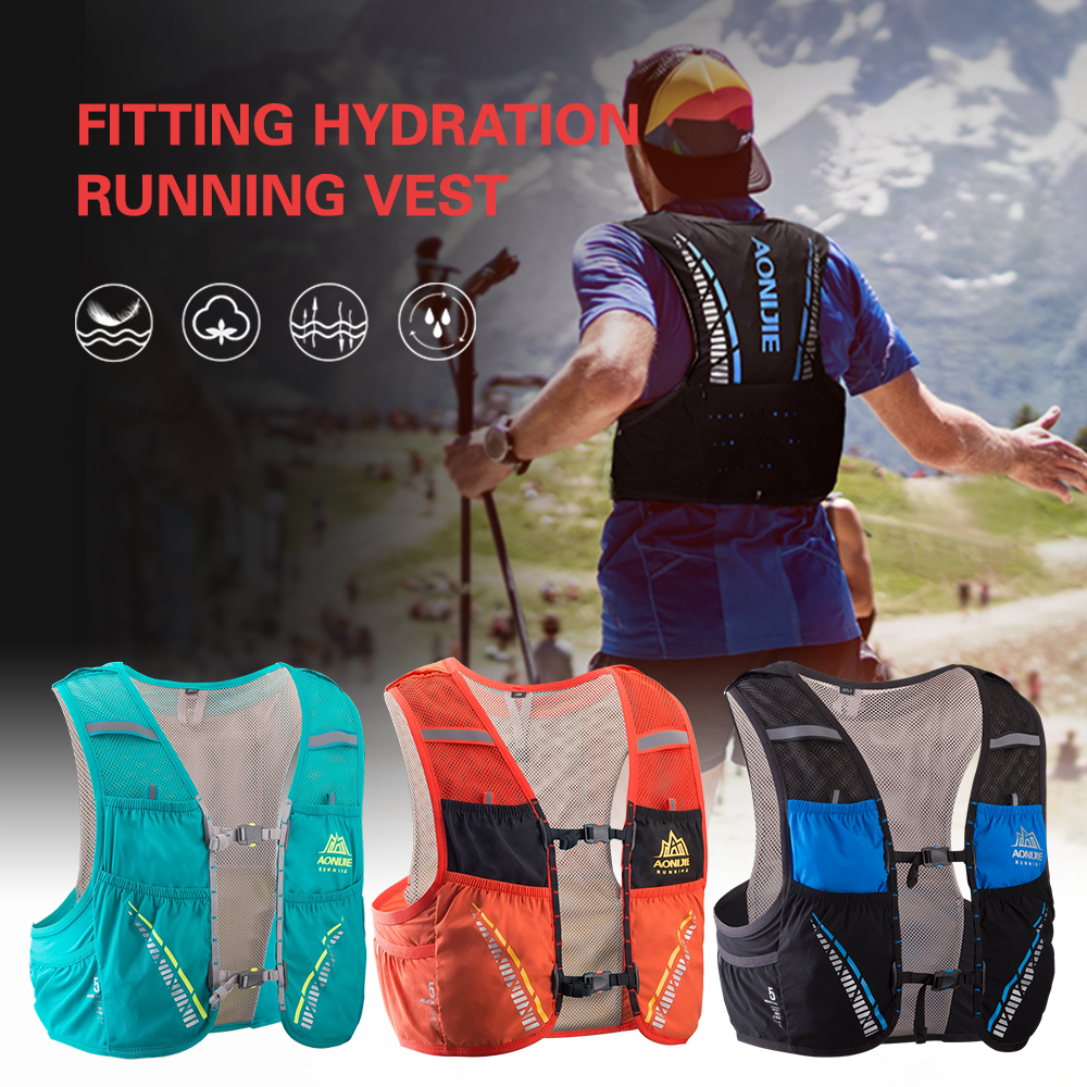 Outdoor Mesh Hydriton Vest Breathable Running Vest Cycling Marathon Climbing Rucksack Bag Gift Emergency Blanket