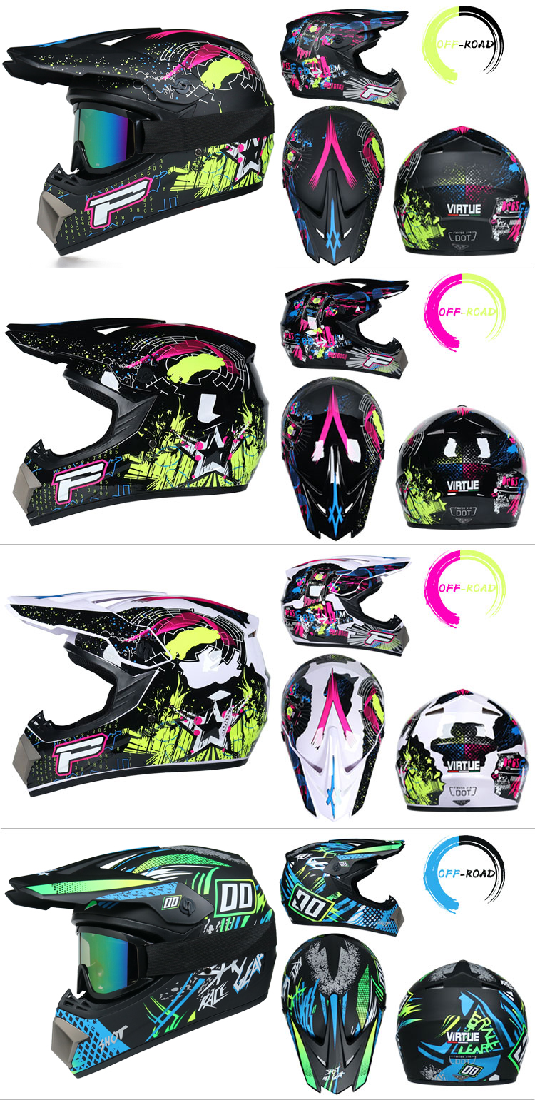 Professional Lightweight Off-road Motorcycle Helmet Racing Bike Children ATV Off-road Vehicle 5