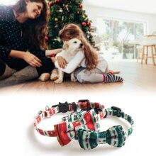 Принтом в виде рождественского кота воротник с колокольчиком