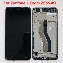 "Oled 5.5 ""Display di prova originale 100% per ASUS Zenfone 3 Zoom ZE553KL LCD Touch Screen Digitizer per Zenfone Zoom S Z01HDA Frame"