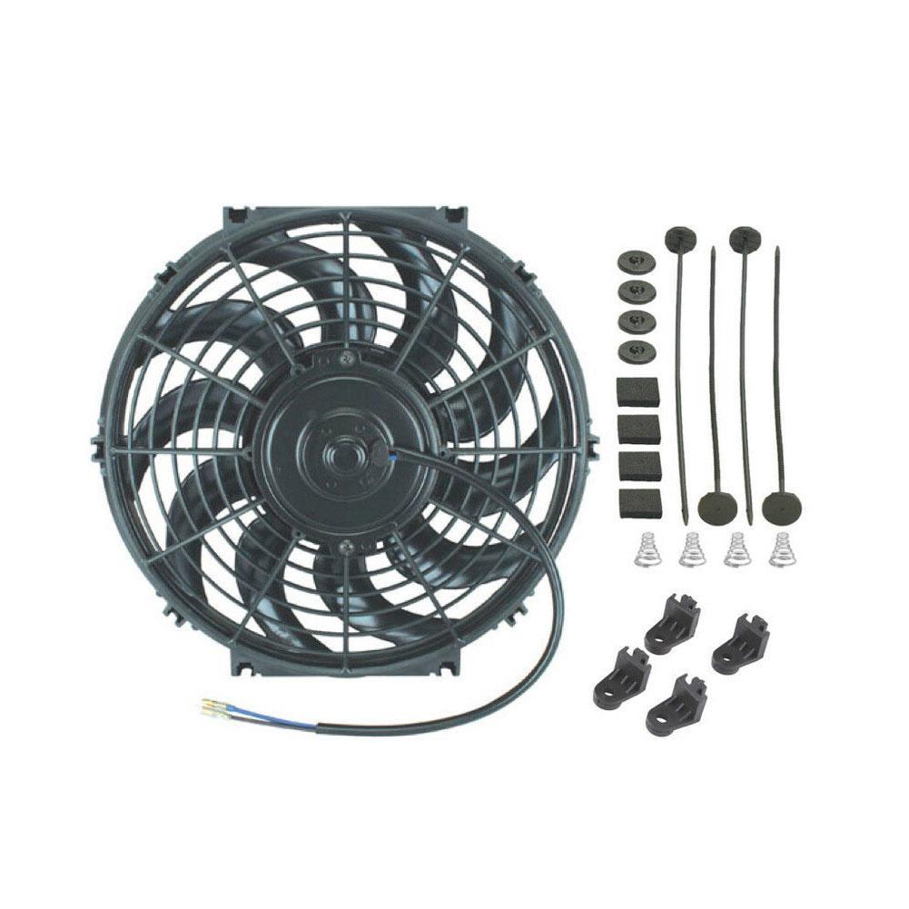 Adeeing 12 дюймов электрический вентилятор для охлаждения радиатора 12 в 80 Вт двигатель 1700 CFM высокий воздушный поток автомобиля Стайлинг автомо