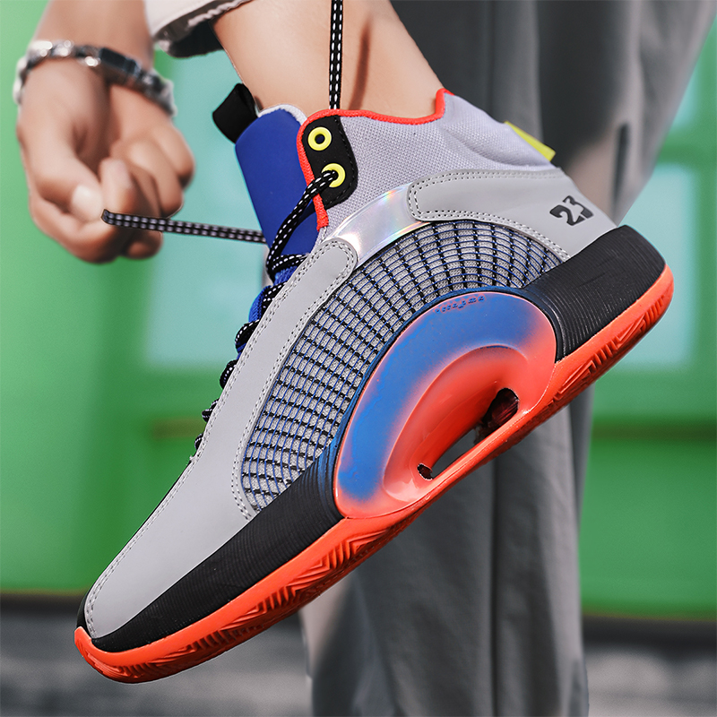 Basketbal Schoenen Voor Mannen De Encaje-Hoge Arriba Zapatillas De Deporte Hombre Retro Basketbal Schoenen Ademend Tendencia Mannen De Aj Lopen