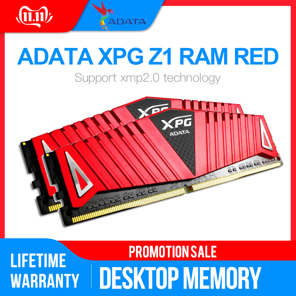 Memória do desktop 2666 mhz 3000 mhz 3200 mhz 1.2 mhz ram memoriye 1.35 v-v pc4 de adata xpg z1 8 gb 16 gb para placas-mãe ddr4