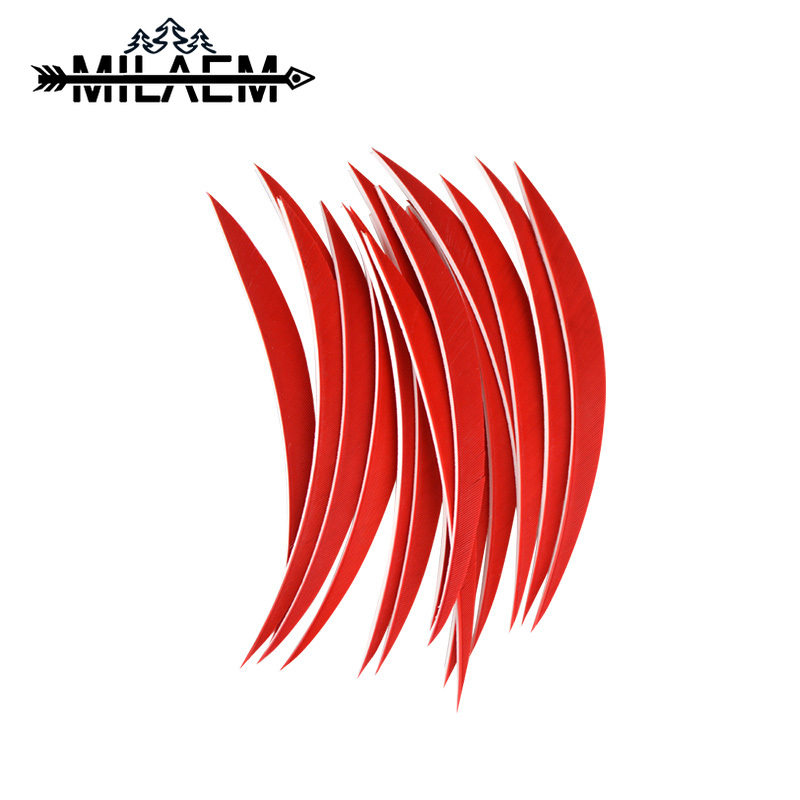 50pcs Multicolor Real Turkey Feather 5 inch Right Wings Arrow Fletching For Archery Hunting And Shooting Arrows Vane in Darts from Sports Entertainment